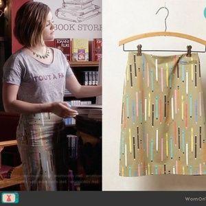 Anthropologie elevenses pencil skirt No. 2 pencil